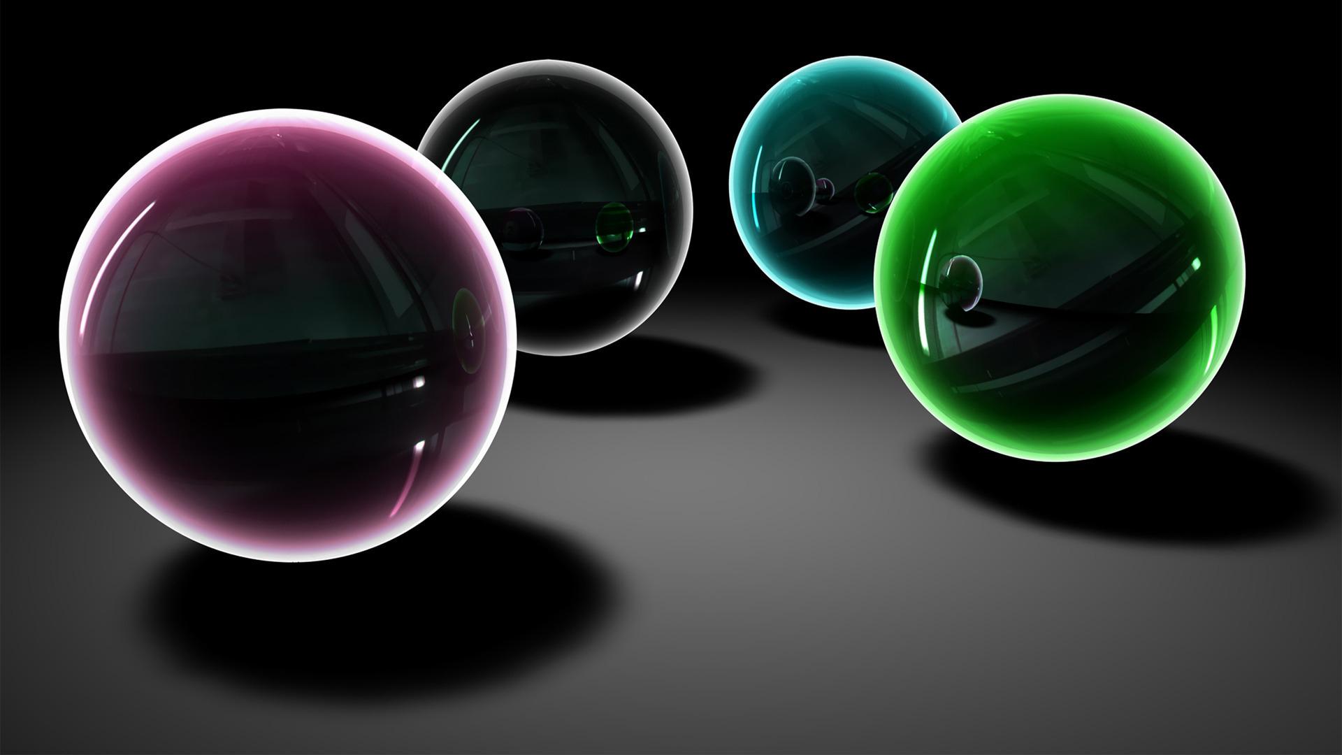 三维球体个性设计ppt背景图片下载