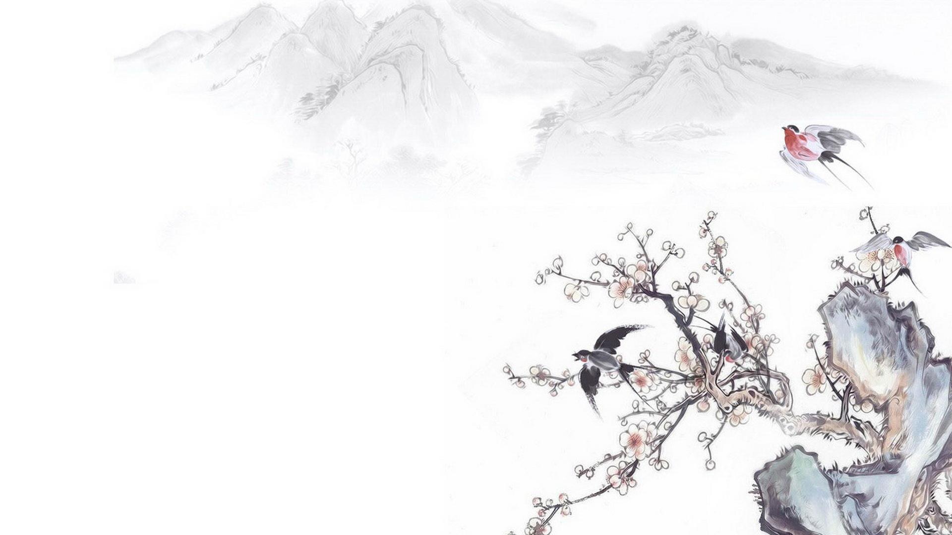 中国风手绘重阳节ppt背景图片下载_幻灯片模板免费下载