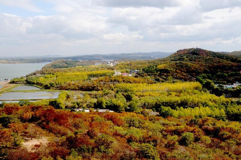 二龙山旅游风景区ppt背景图片下载