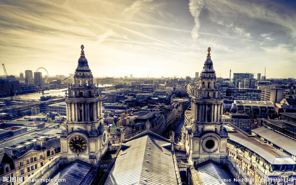 伦敦ppt背景图片下载