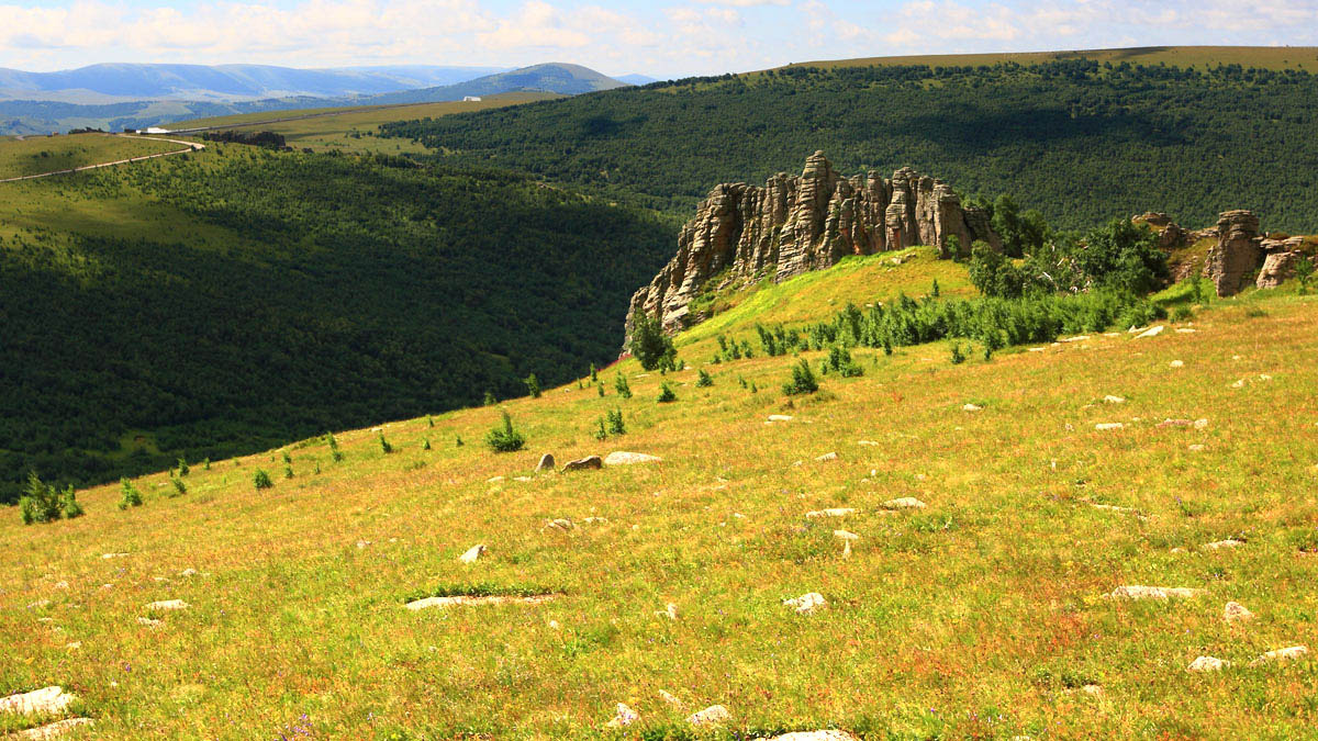 克什克腾国家地质公园ppt背景图片下载