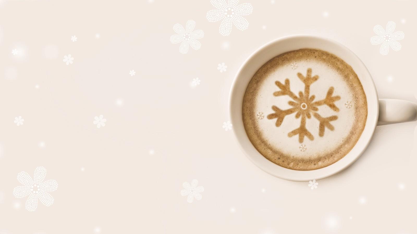 冬日温暖的奶茶唯美小清新ppt背景图片下载_幻灯片