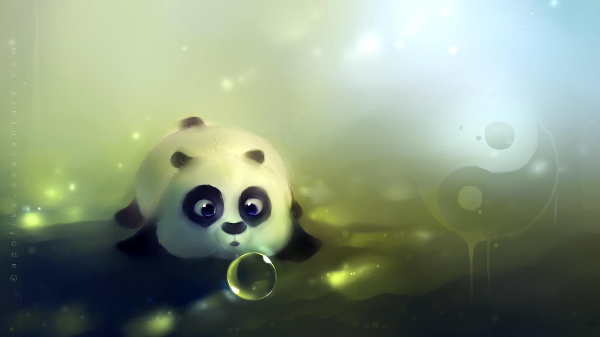 功夫熊猫之可爱q版ppt背景图片下载