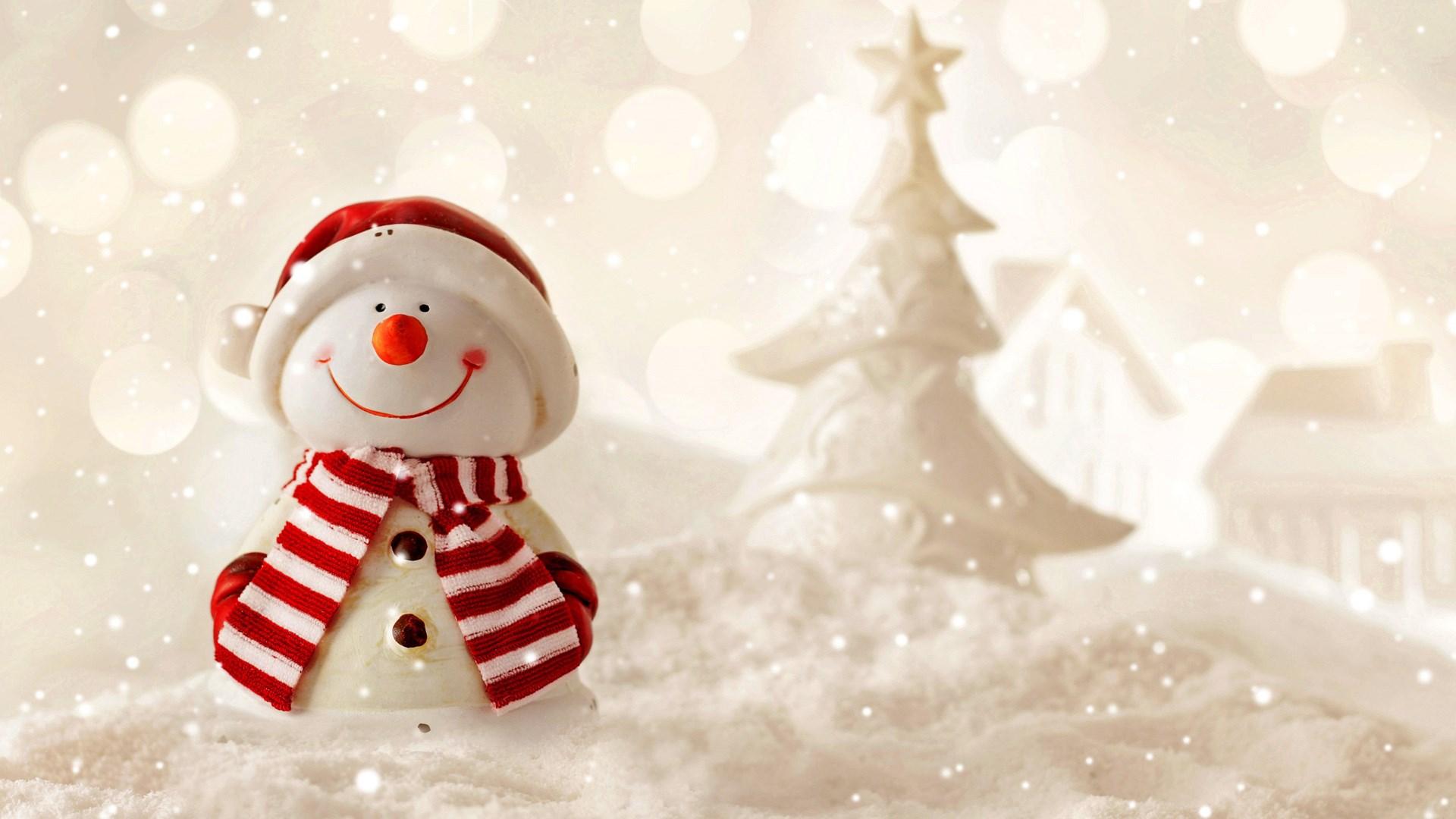 可爱堆雪人ppt背景图片下载
