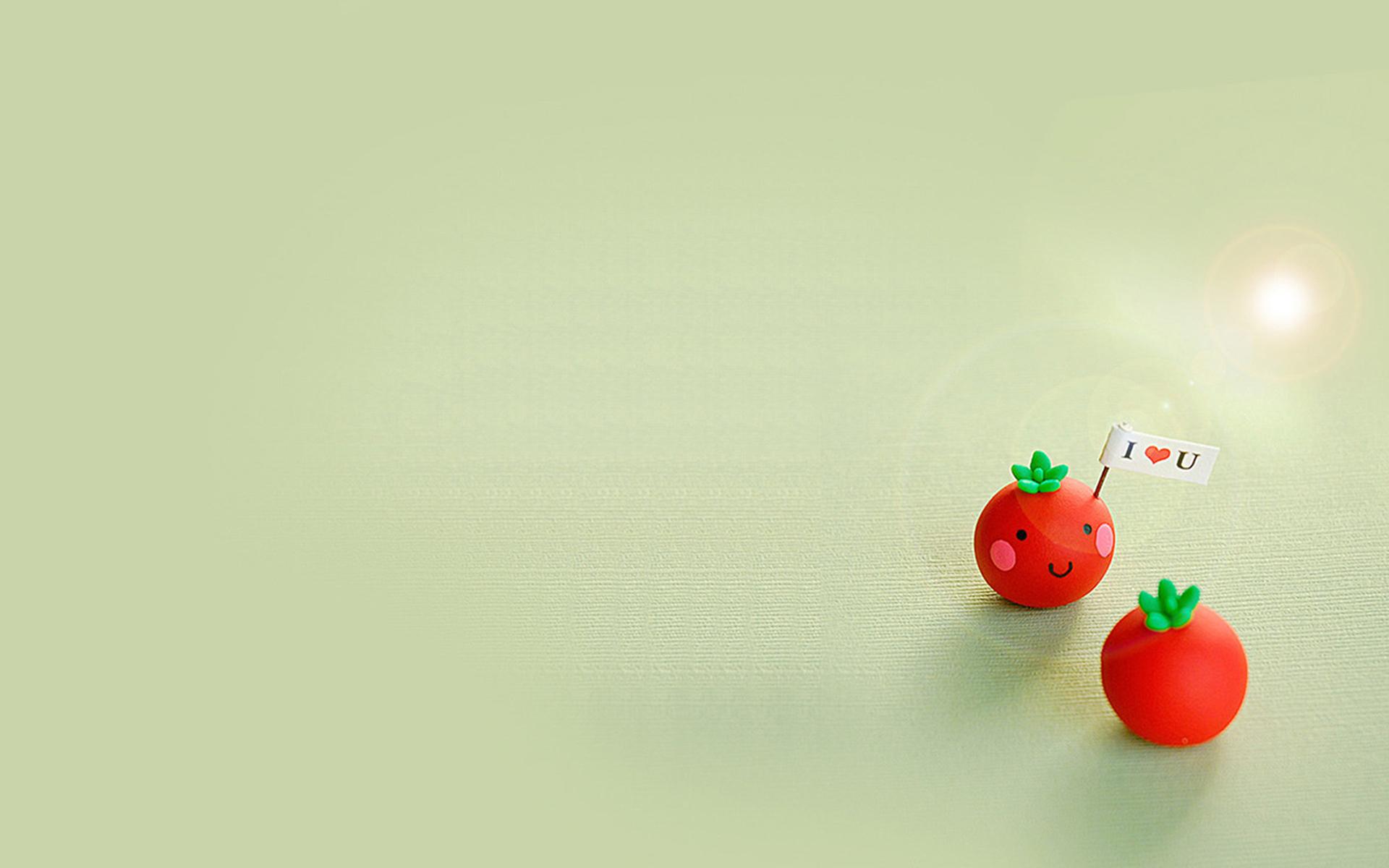 """可爱番茄玩偶的甜蜜表白PPT背景图片免费下载是由PPT宝藏(www.pptbz.com)会员zengmin上传推荐的淡雅PPT背景图片, 更新时间为2017-01-14,素材编号119174。 玩偶,指供儿童玩耍的人形玩具。语出巴金《利娜》上篇:""""我和那些最时髦的小姐完全一样,又可以说完全像一个 巴黎 制造的玩偶。"""" 玩偶,取自动物外貌的玩具通称为玩偶。在中文中娃娃也有小孩的意思,故用这个词语来指称这些按比例缩小的人偶。 娃娃的外型面貌从抽象到拟真,涵盖不同种族、年龄、性别的外型;各国各种族都因为各自"""
