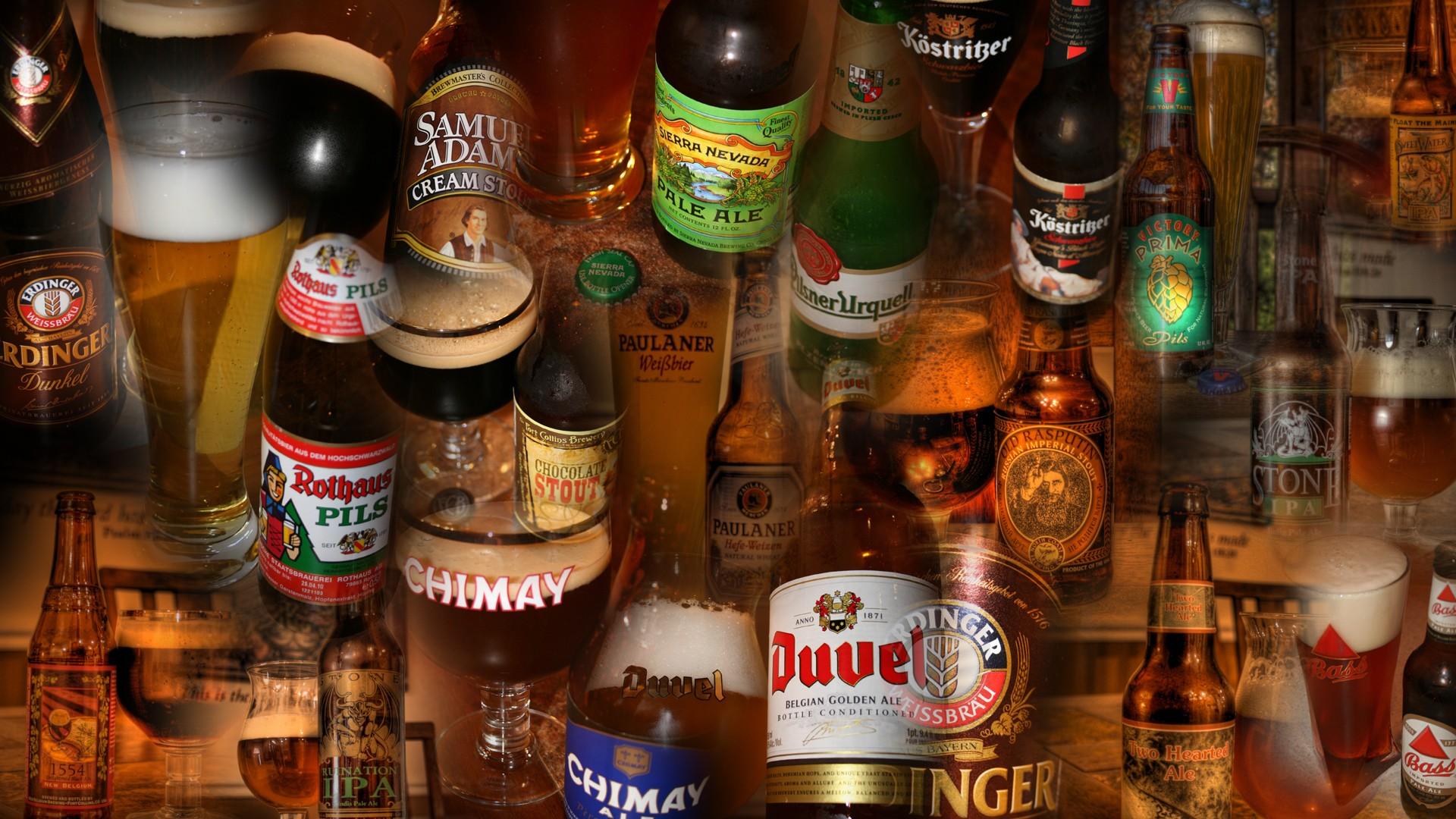 各式酒瓶创意高清ppt背景图片下载