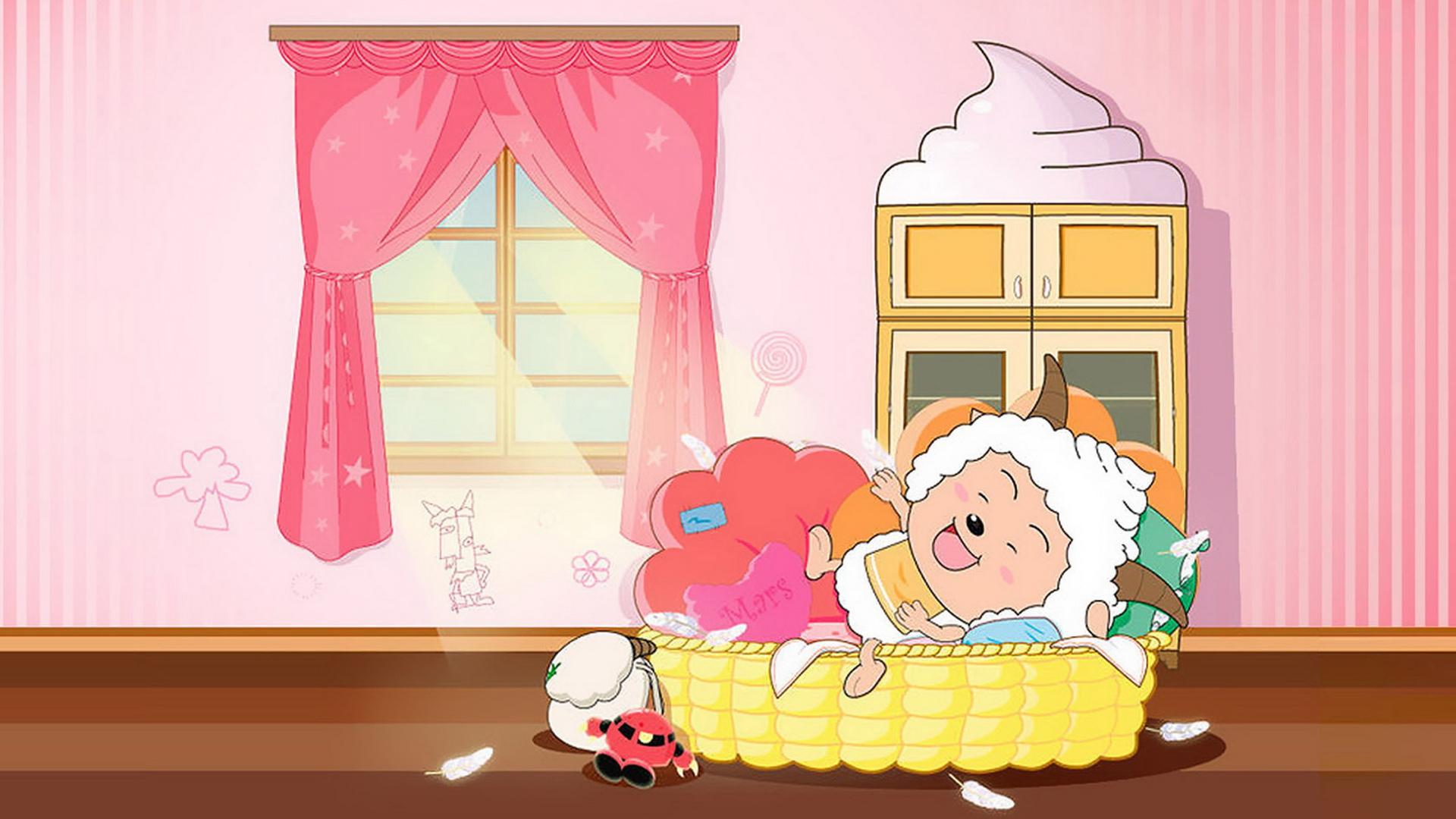 喜羊羊与灰太狼卡通ppt背景图片下载