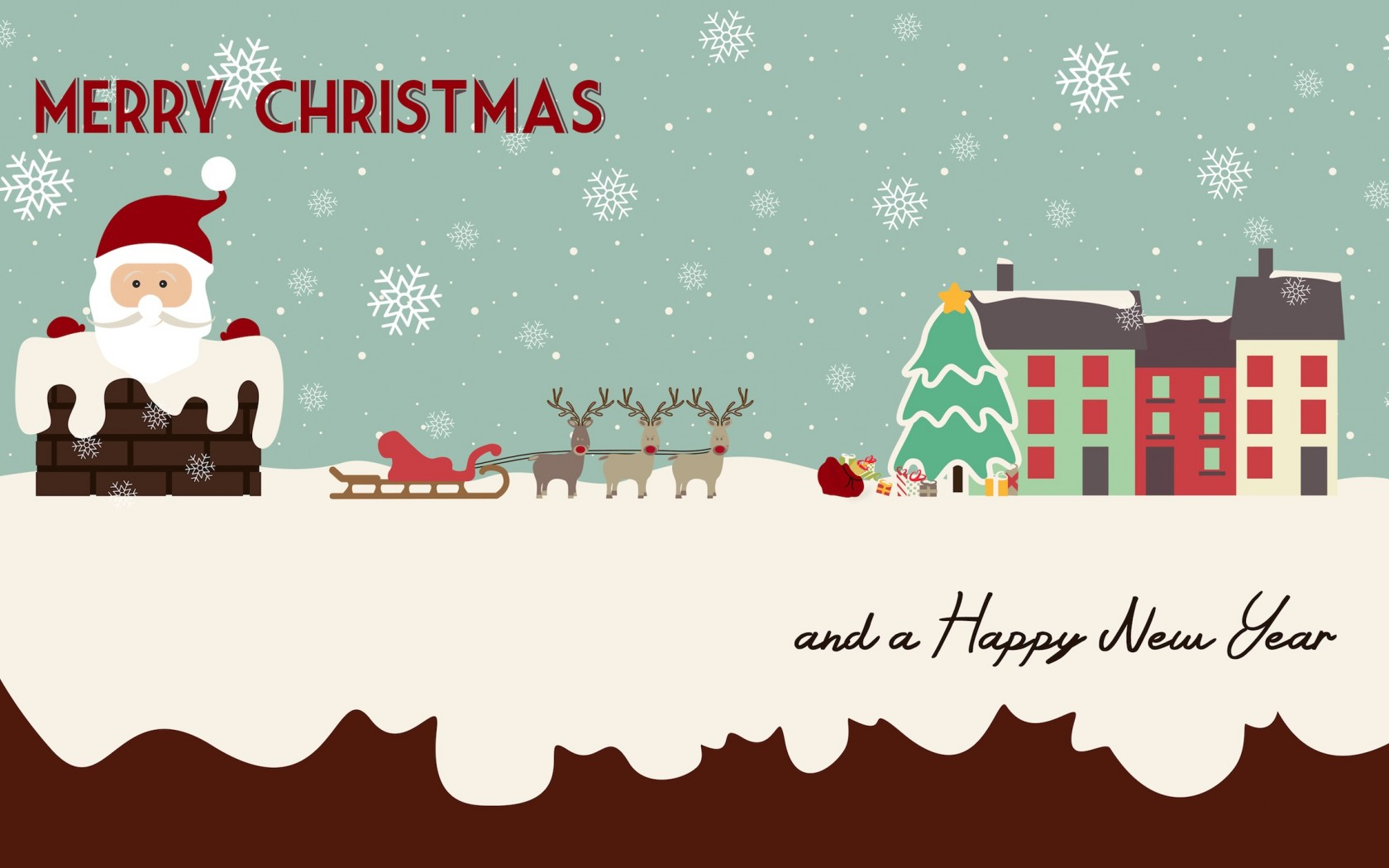 圣诞节可爱卡通风格ppt背景图片下载