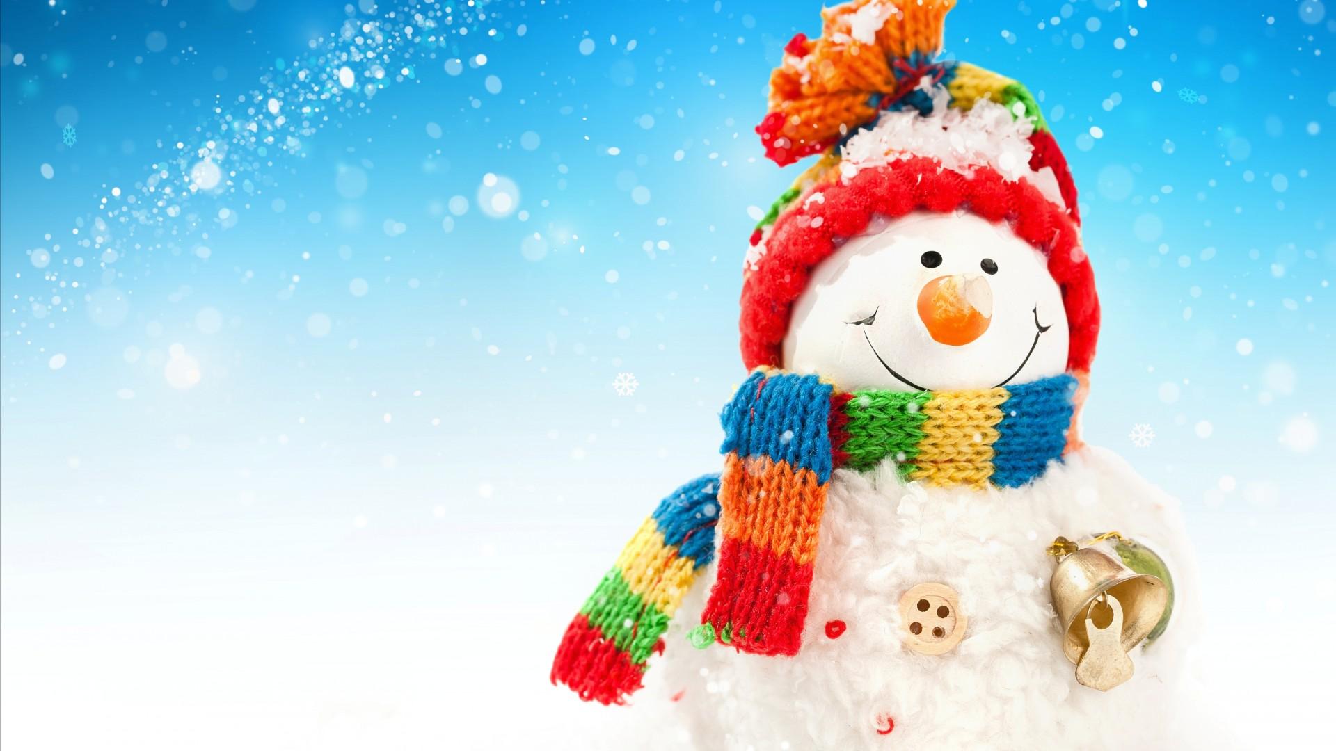 圣诞节可爱小雪人ppt背景图片下载