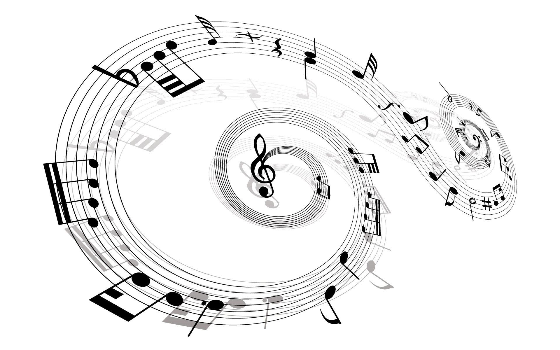 奇妙的音符创意ppt背景图片下载