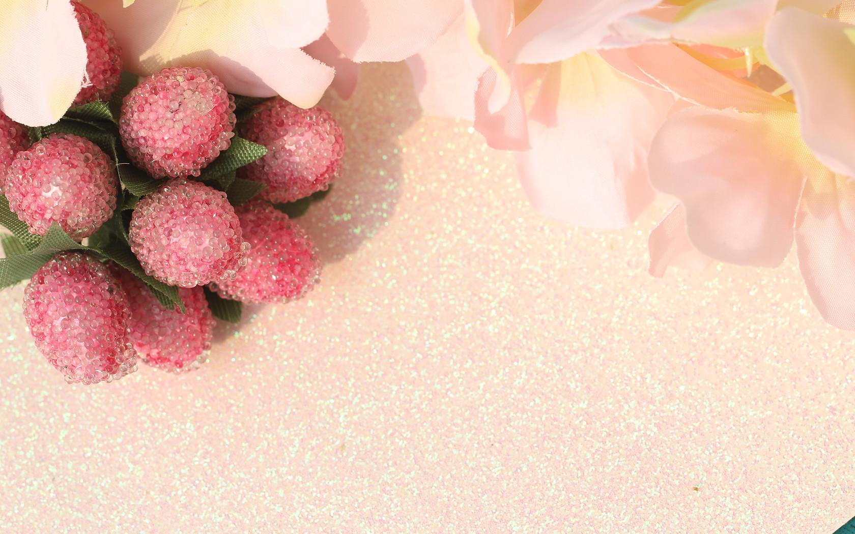 小清新浆果和花朵暖色ppt背景图片下载_幻灯片模板