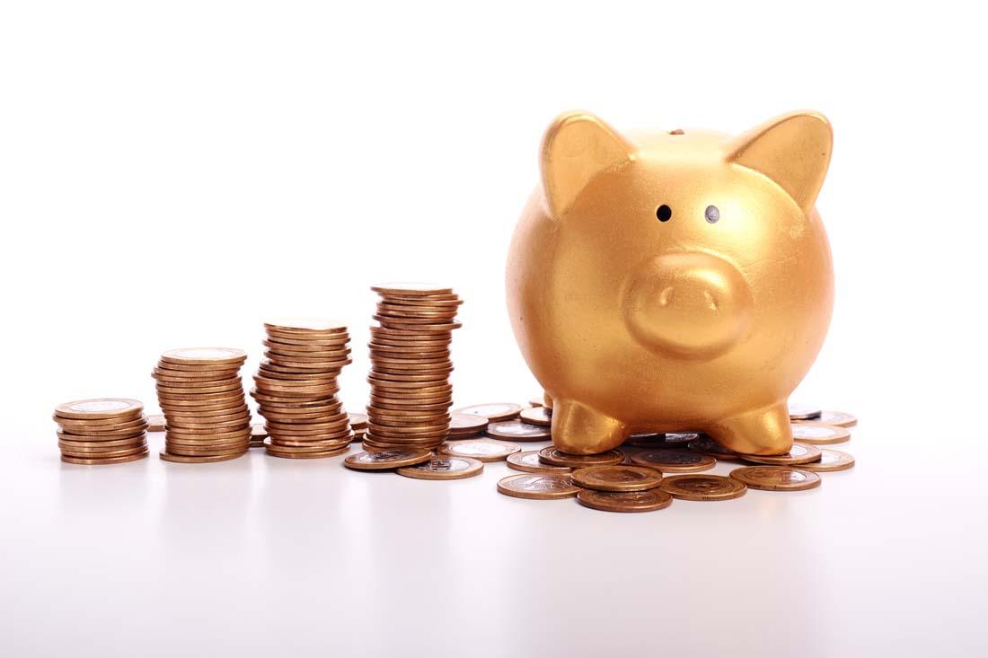 小猪储蓄与商务理财ppt背景图片下载