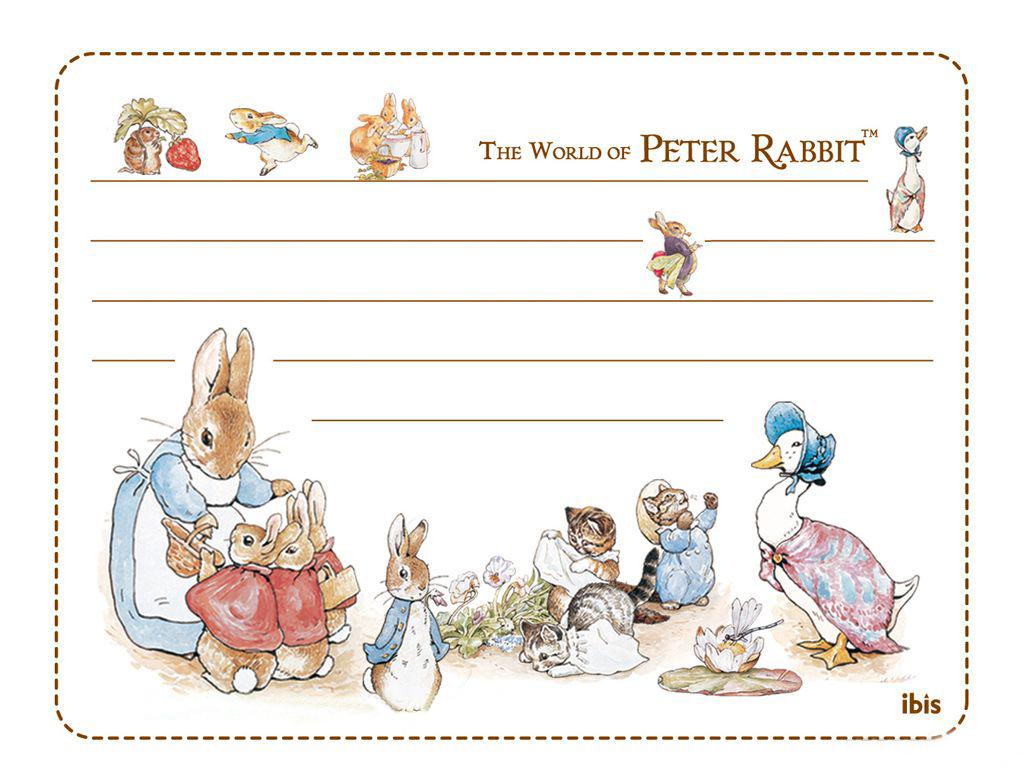 彼得兔之明信片ppt背景图片下载_幻灯片模板免费下载
