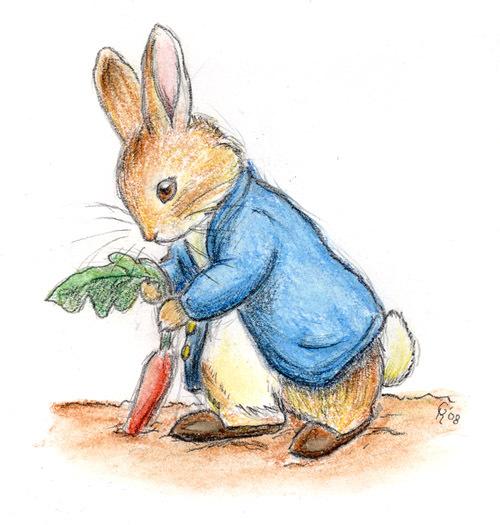 彼得兔ppt背景图片下载