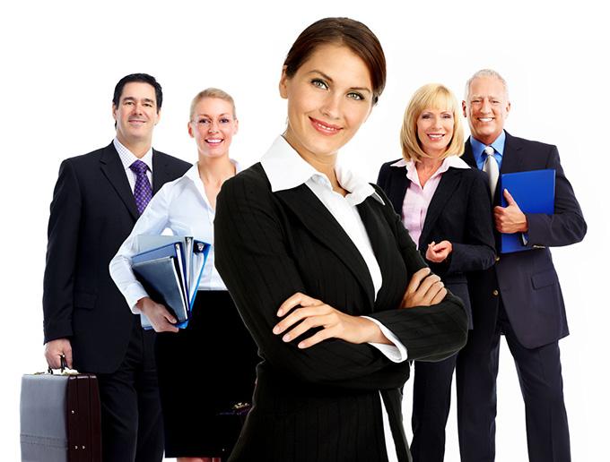 微笑的商务团队人物ppt背景图片下载_幻灯片模板免费