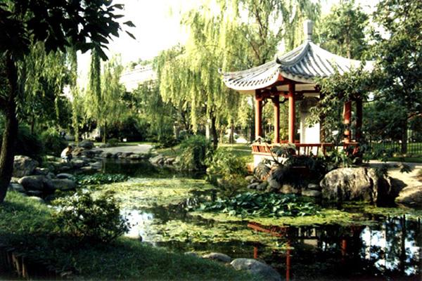 成都人民公园ppt背景图片下载