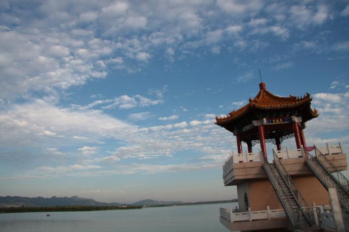 仙海风景区ppt背景图片下载
