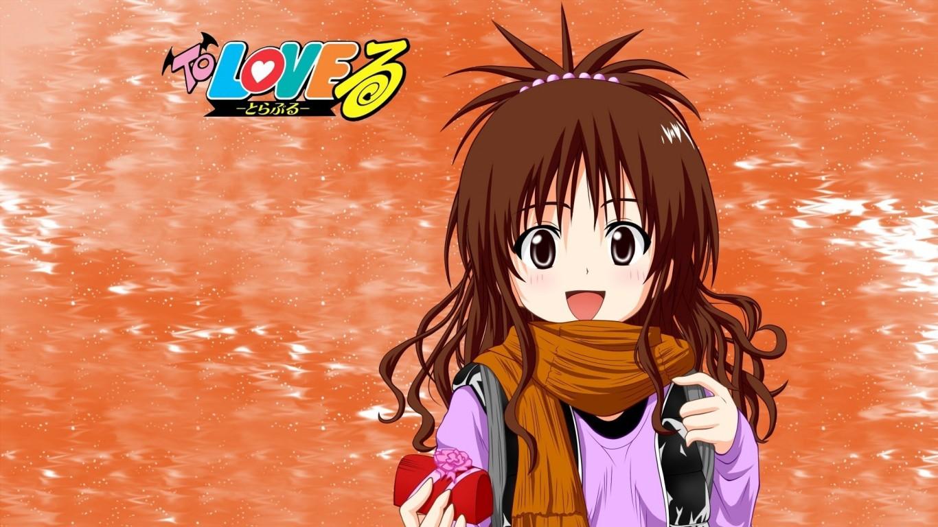 日本动漫《出包王女》之可爱人物ppt背景图片下载