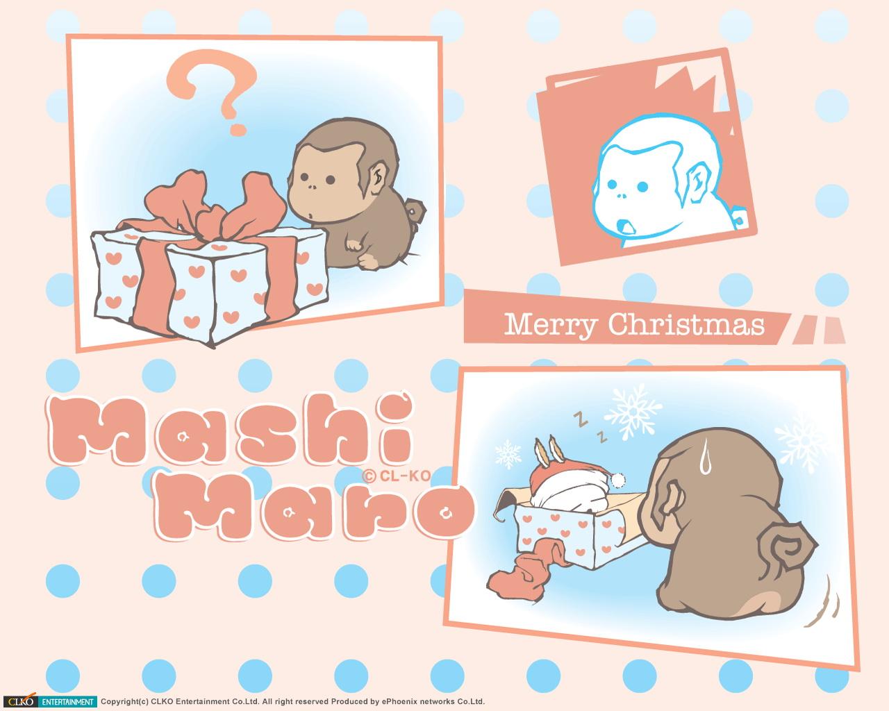 流氓兔之小猴的礼物ppt背景图片下载