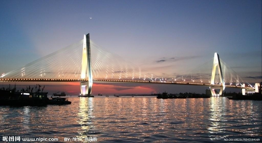 海口世纪大桥ppt背景图片下载