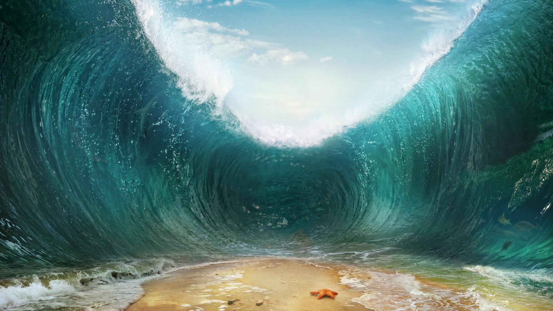 海浪创意设计ppt背景图片下载_幻灯片模板免费下载