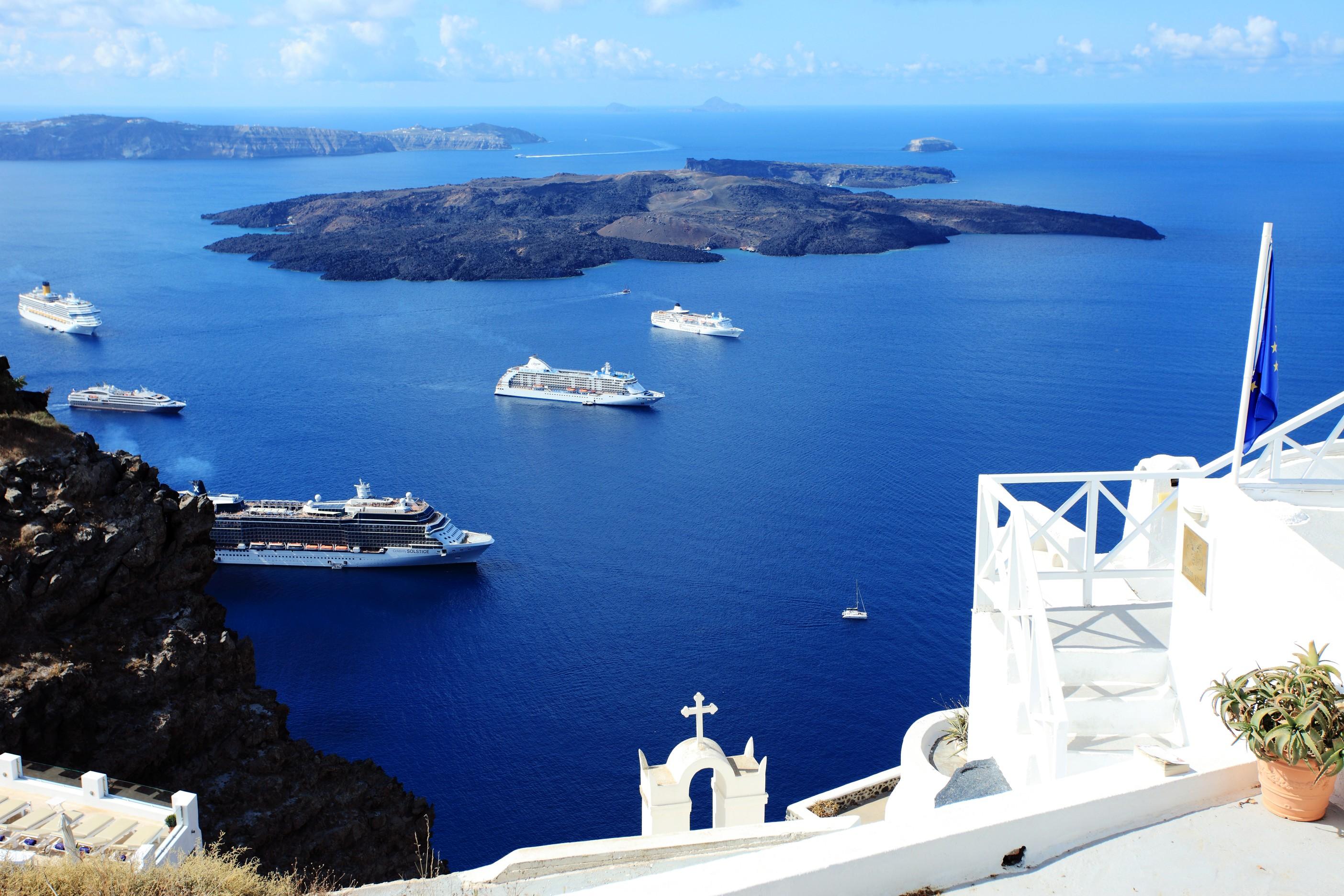 爱琴海ppt背景图片下载