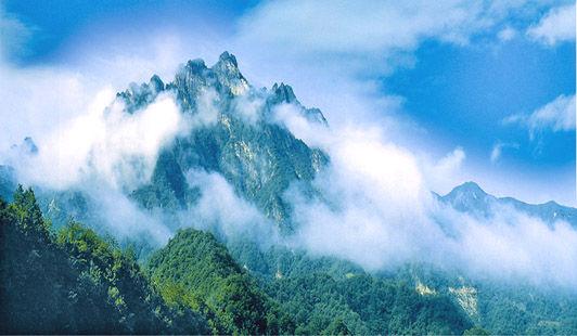 白云山森林公园ppt背景图片下载