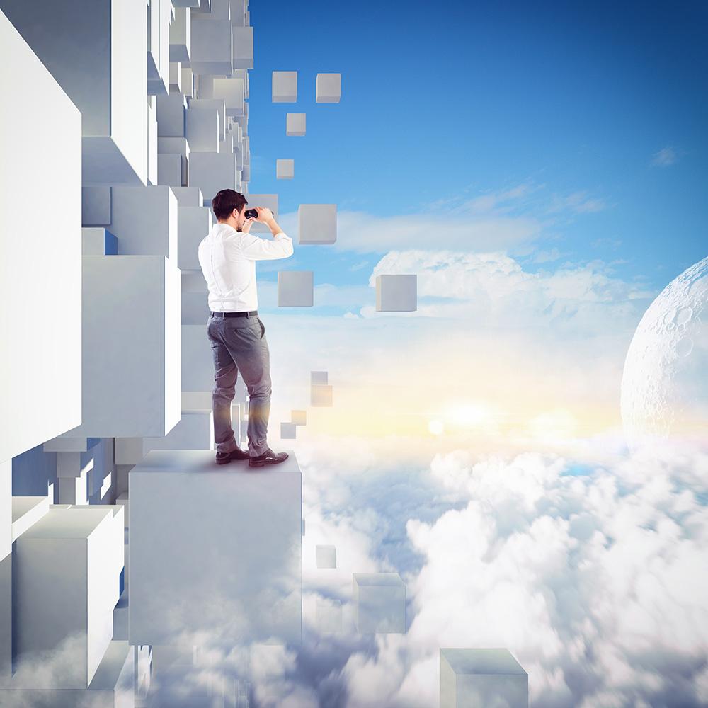 首页 ppt背景 商务ppt背景图片 > 站在云朵上的男士ppt背景图片  素材图片
