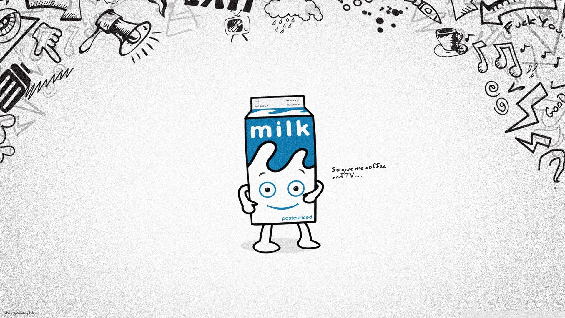 简约搞怪牛奶ppt背景图片下载_幻灯片模板免费下载