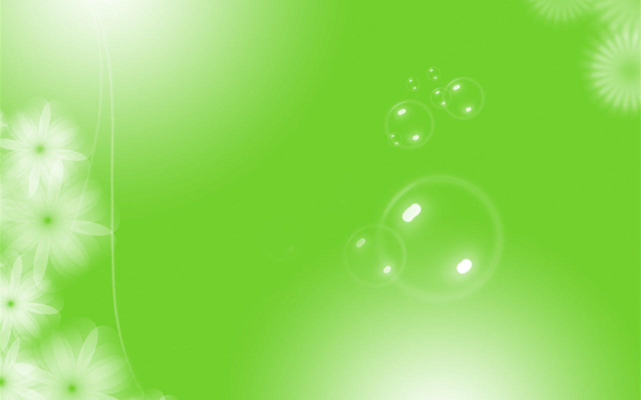 简约清新绿色素材ppt背景图片下载
