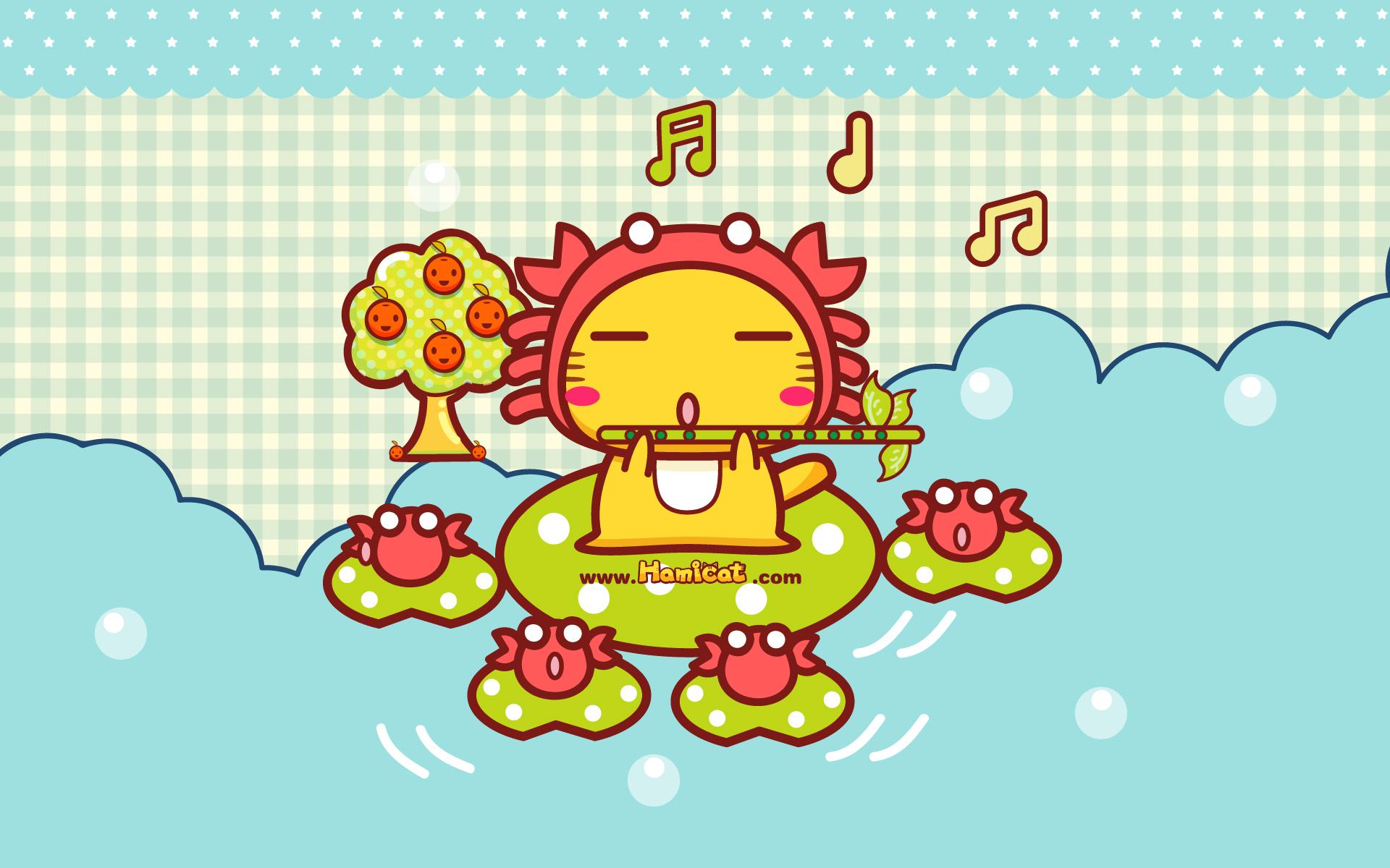 精选12星座音乐猫之巨蟹座ppt背景图片下载