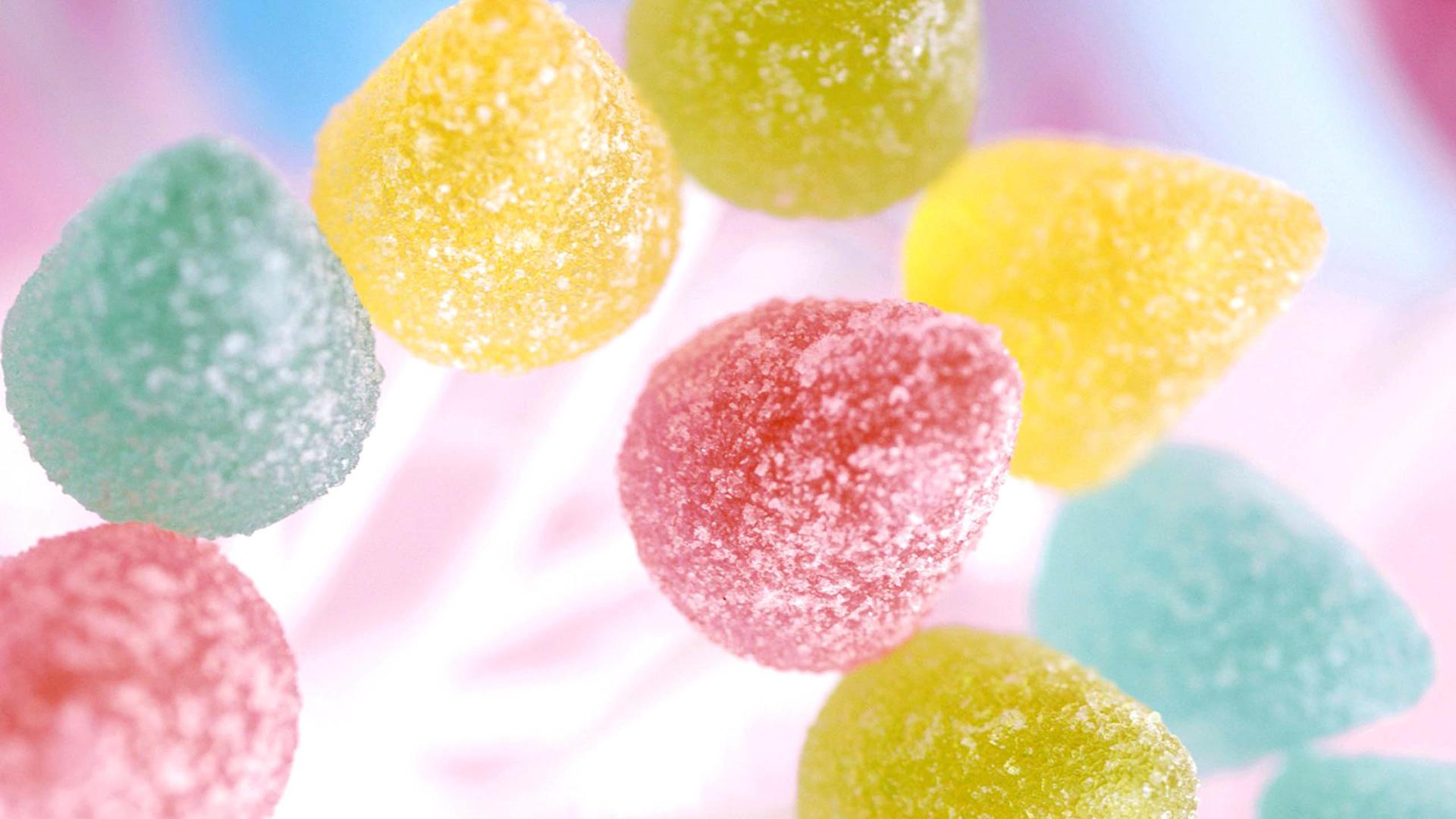 缤纷美味的彩虹糖ppt背景图片下载
