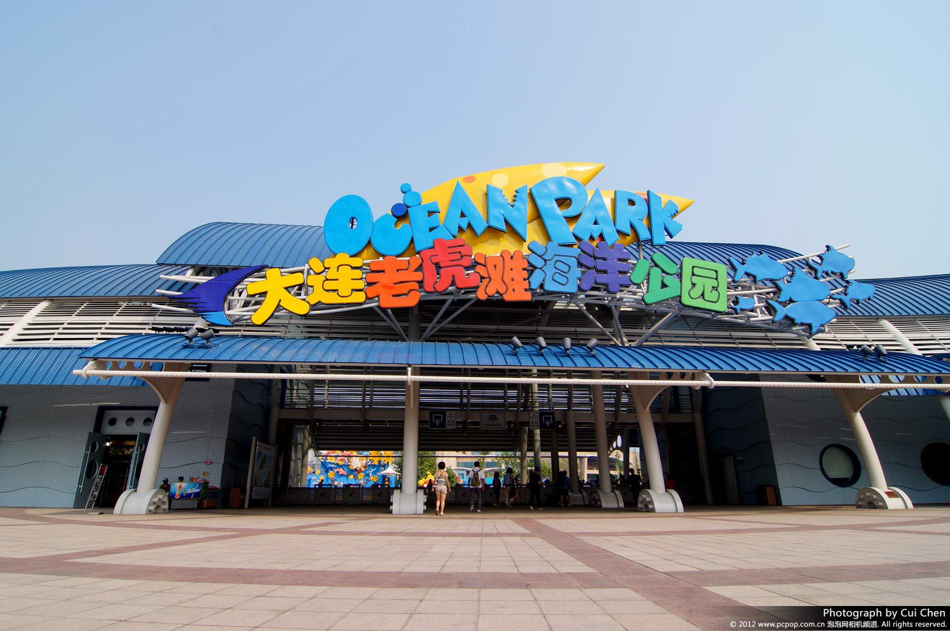 老虎滩海洋公园ppt背景图片下载