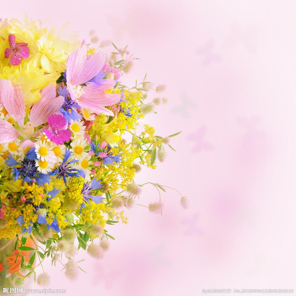 花朵ppt背景图片下载