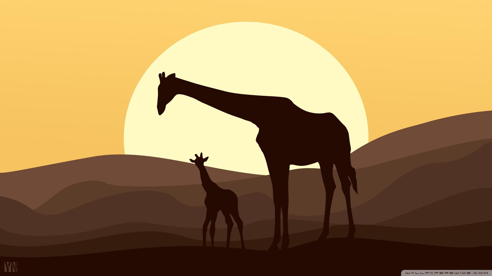 设计创意长颈鹿ppt背景图片下载
