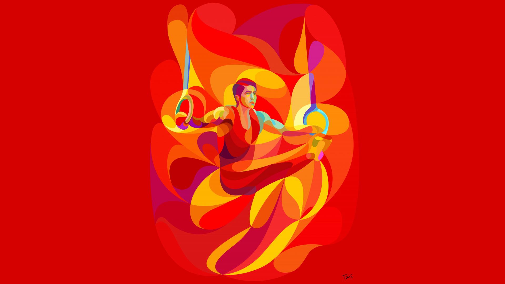 里约奥运会宣传海报ppt背景图片下载_幻灯片模板免费
