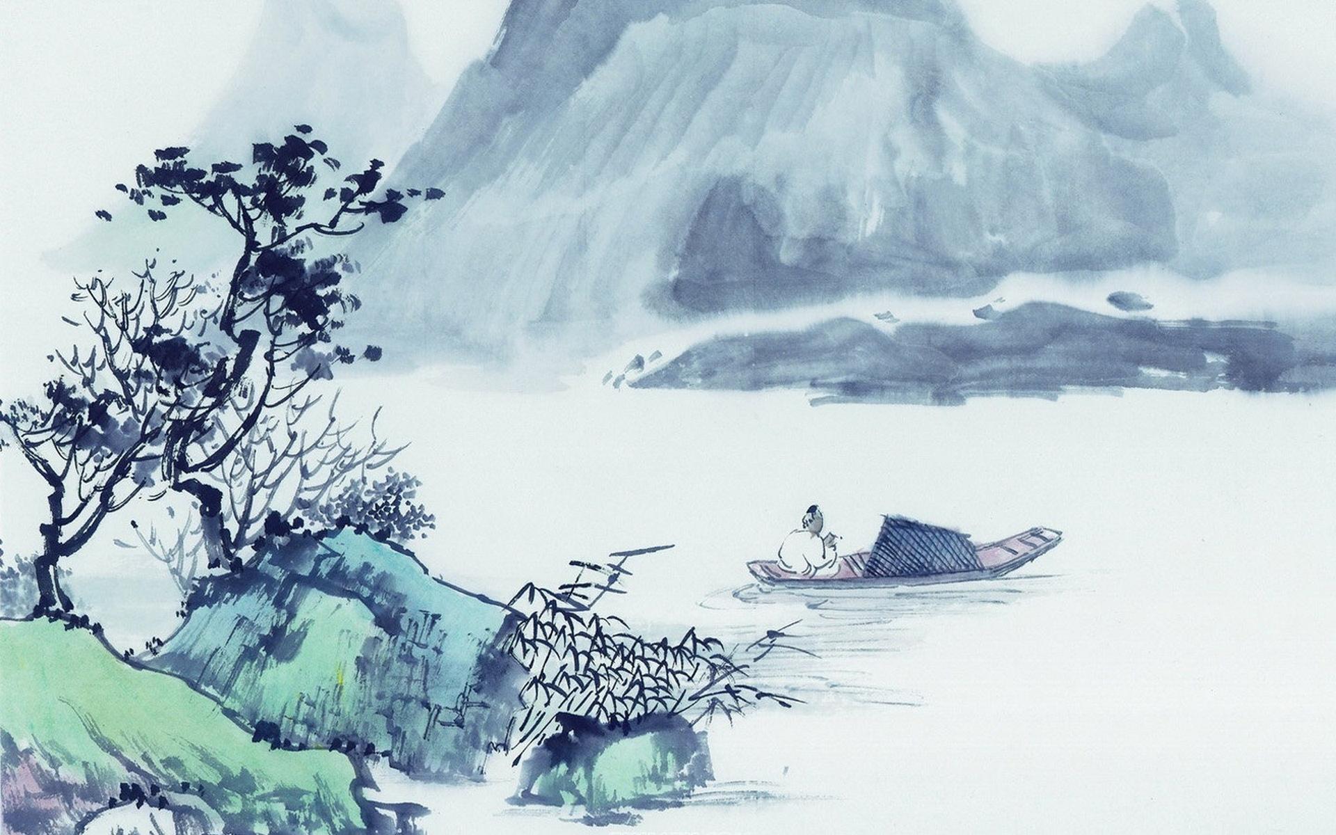 重阳节中国风手绘ppt背景图片下载