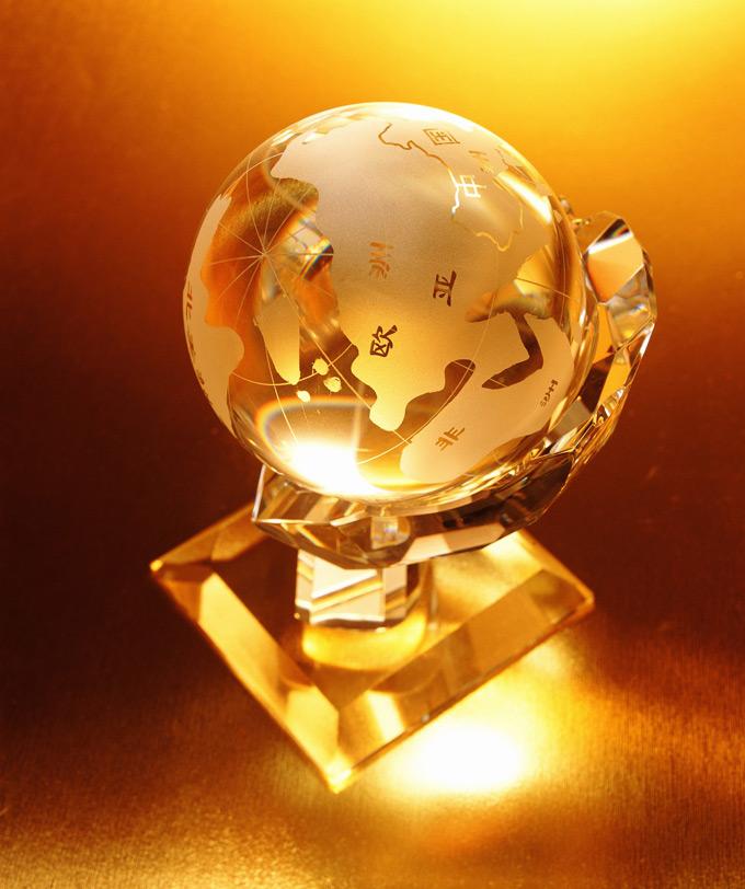 金色地球仪ppt背景图片下载