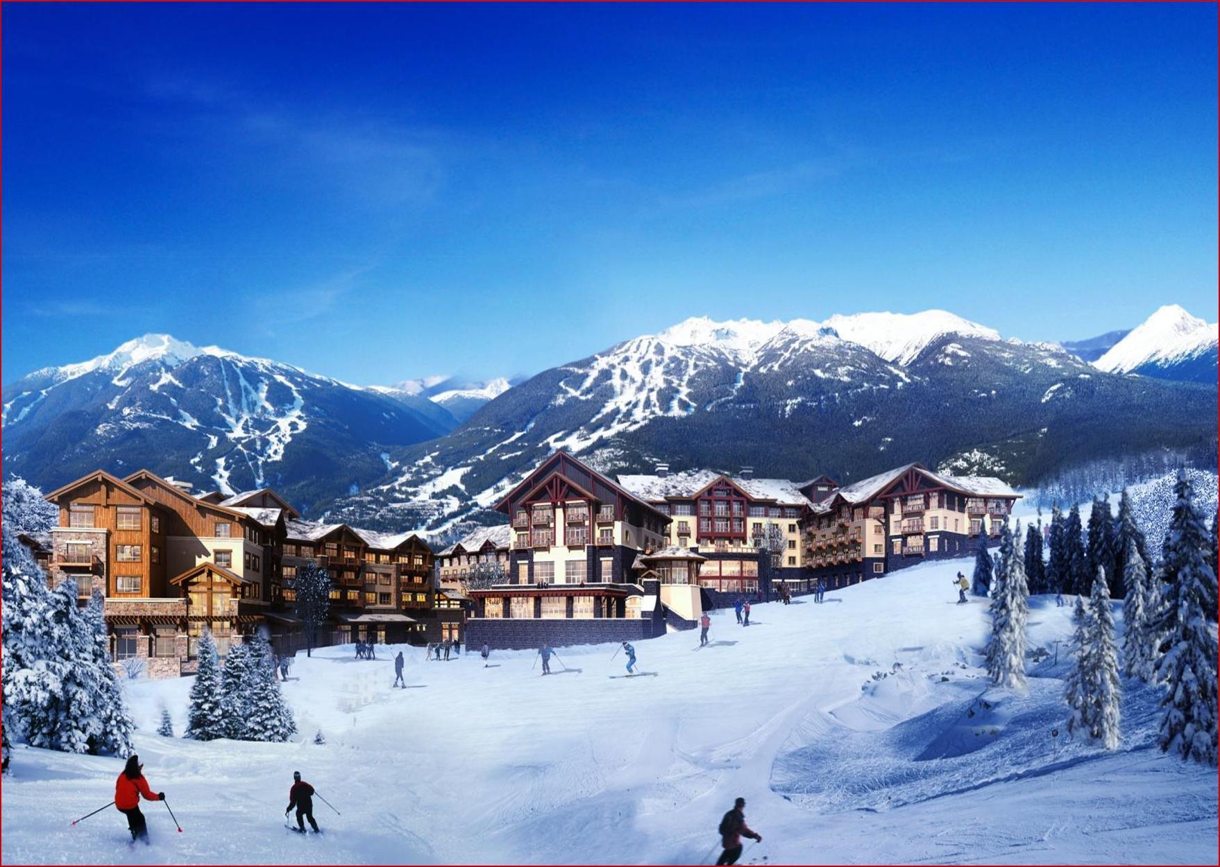 长白山滑雪场ppt背景图片下载