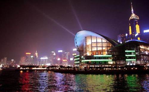 香港会议展览中心ppt背景图片下载