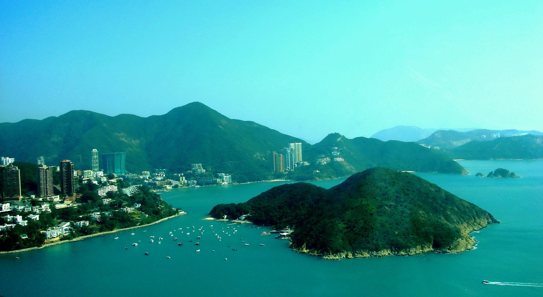 香港岛ppt背景图片下载