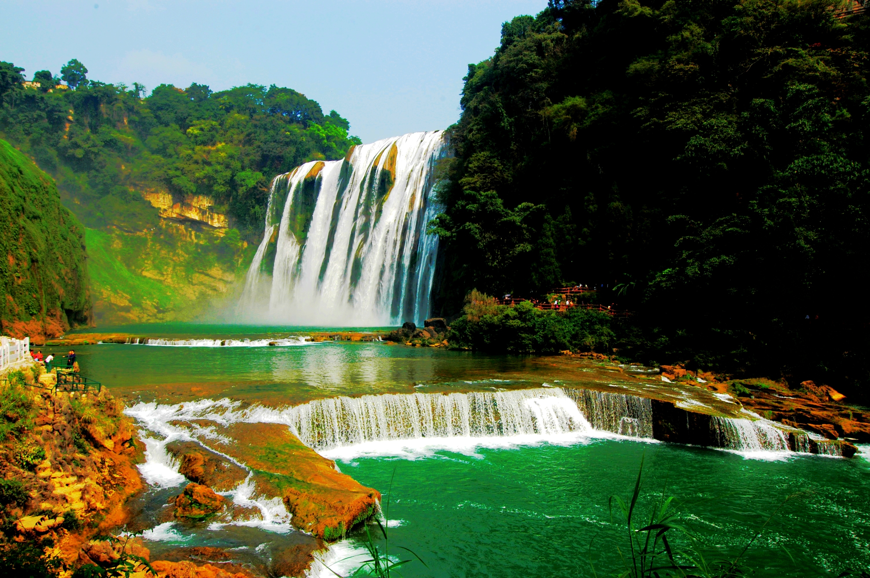 壁纸 风景 旅游 瀑布 山水 桌面 3008_2000