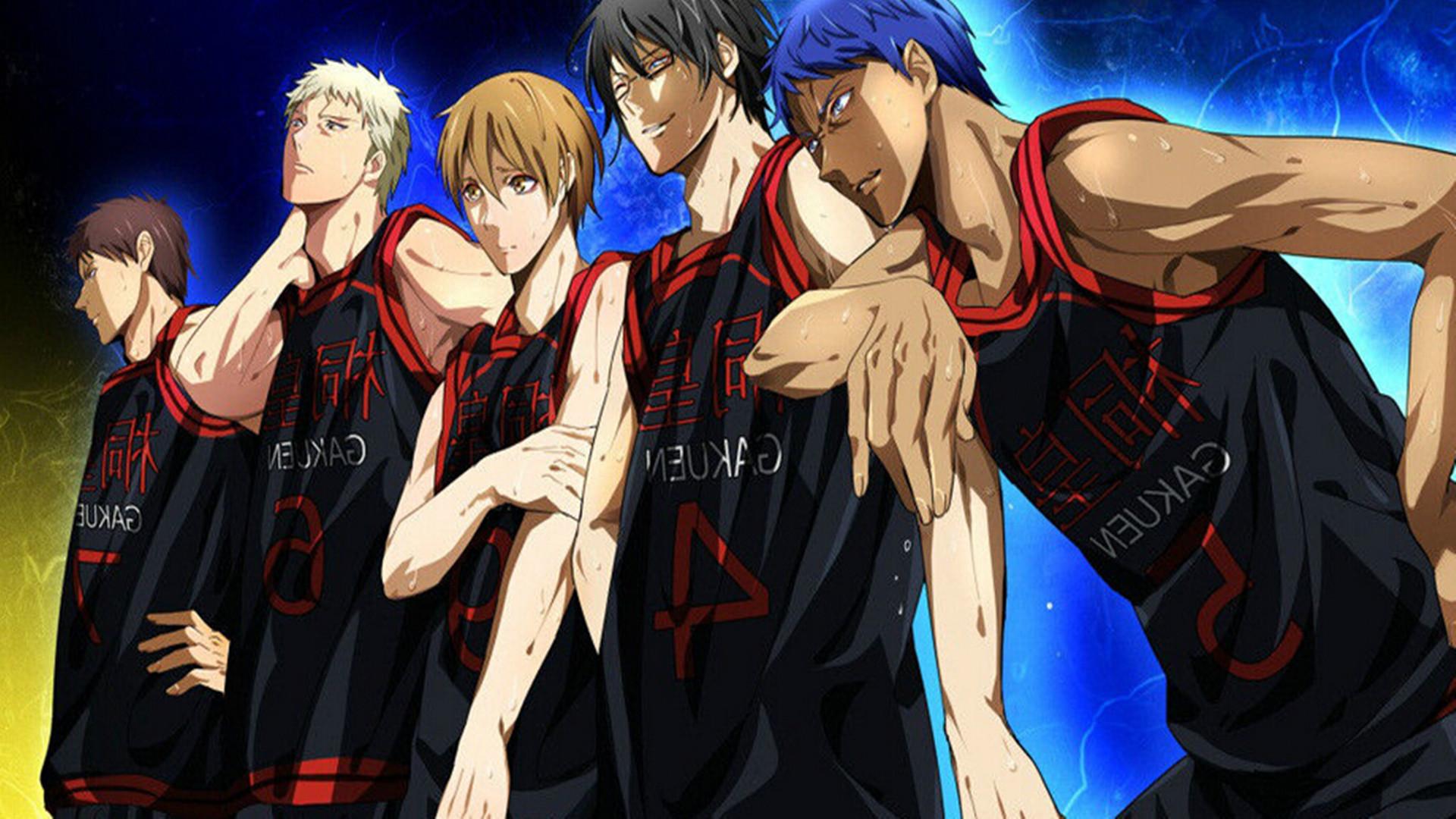"""黑子的篮球桐皇学园PPT背景图片免费下载是由PPT宝藏(www.pptbz.com)会员zengmin上传推荐的卡通PPT背景图片, 更新时间为2016-11-22,素材编号112294。 桐皇学园,出自动漫《黑子的篮球》,是其中的一间学校,位于东京。其篮球队在近几年急速成长,是一支注重个人技术发挥的超攻击型球队,被称为""""新锐的暴君""""。 桐皇高校也属于新兴篮球强权,本身球队体系就是""""进攻型球队"""",特别是在""""奇迹的世代""""王牌青峰的加入后更蜕变成为一支""""超"""