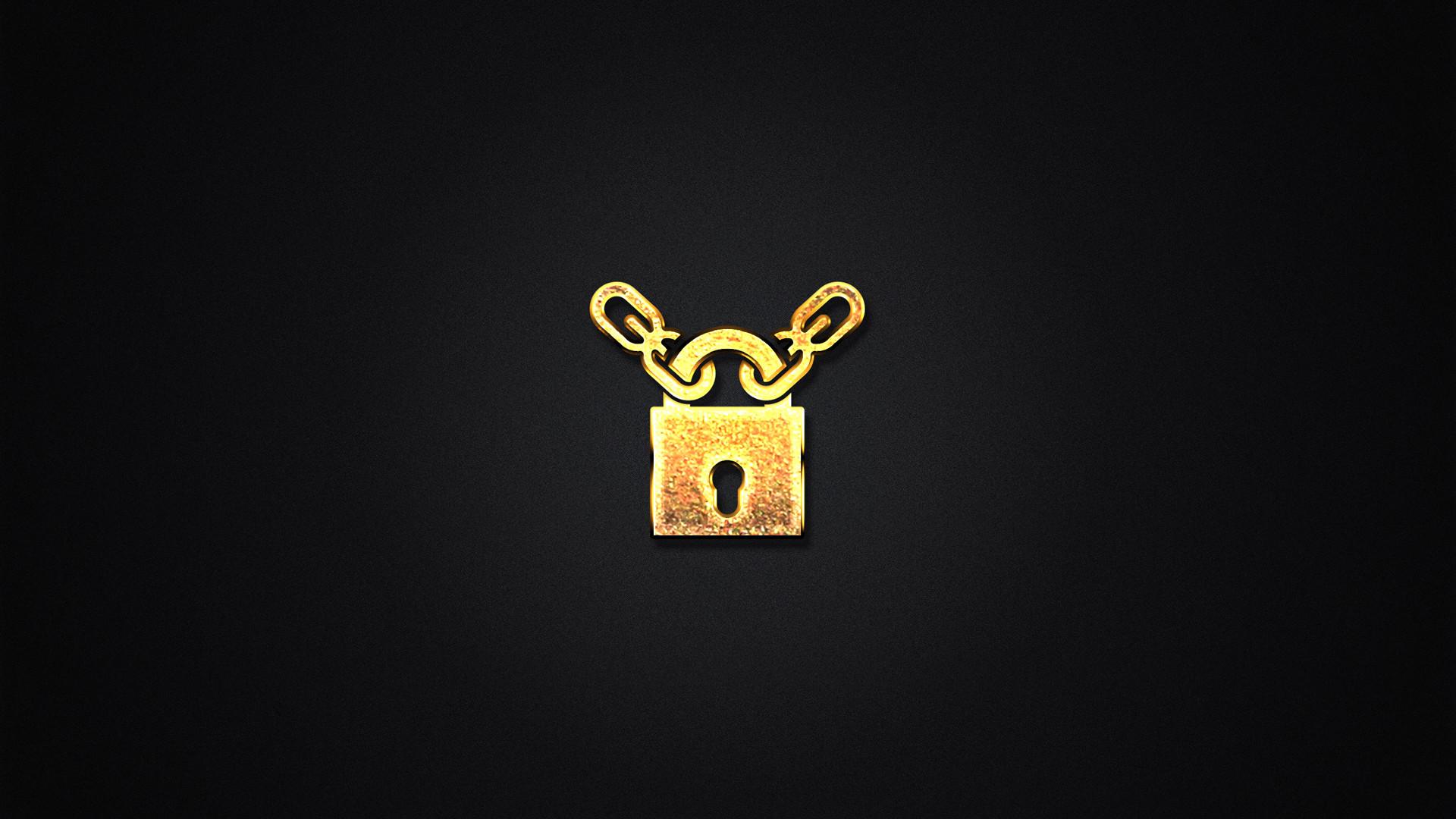 黑色极简主义创意设计锁ppt背景图片下载