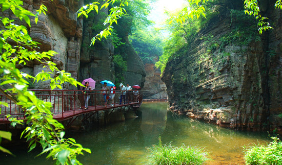 龙潭大峡谷风景区ppt背景图片下载