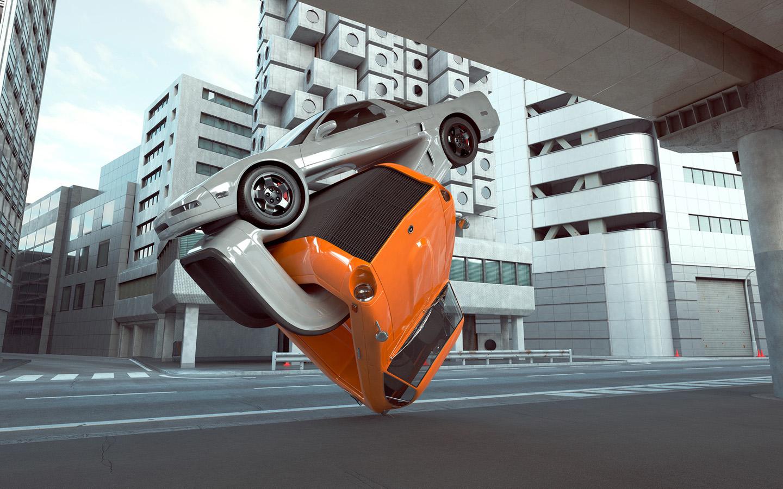 3d视觉汽车艺术设计ppt背景图片下载